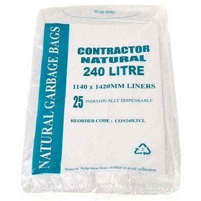 Austar Bin Liners Contractor Natural 240L