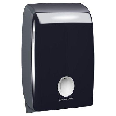 Aquarius Multifold Hand Towel Dispenser Black