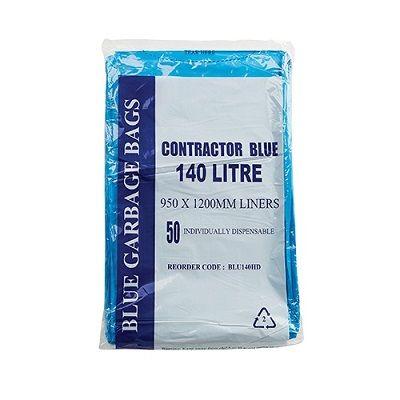 Austar Bin Liner Contractor 140 Litre Blue