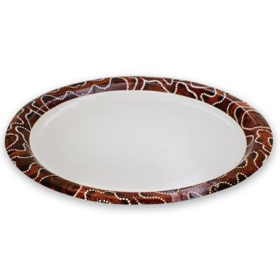 CCAB Indigenous Round Paper Plate 220mm