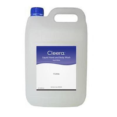 Cleera Hand Body Wash Liquid Pearl White 5L