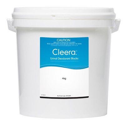 Cleera Urinal Deodorant Blocks Tub 4kg