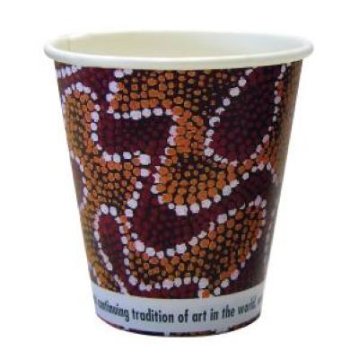 CCAB Indigenous Heavy Board Hot Cup 8Oz/285ml