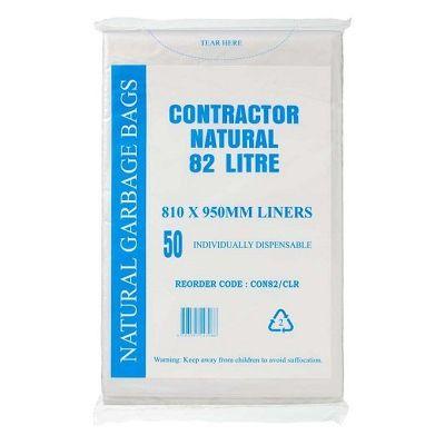 Austar Bin Liners Contractor Natural 82 Litre