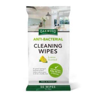 Oakwood Antibacterial Cleaning Wipes