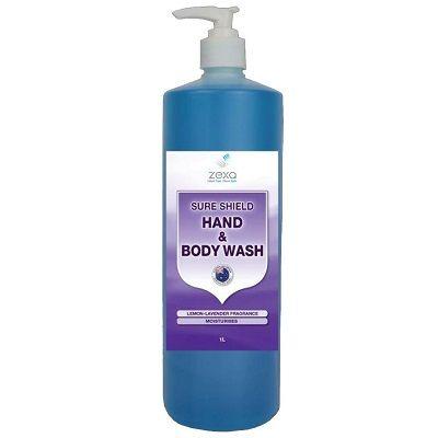 Zexa Sure Shield Hand & Body Wash Liquid Gel 1L Lemon Lavender