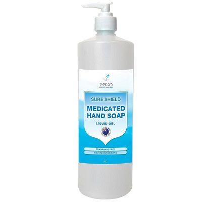Zexa Sure Shield Medicated Liquid Gel Soap 1L